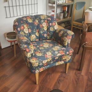 Clubsessel Sessel Easychair Midcentury Floral Restauriert 50er Jahre Vintage