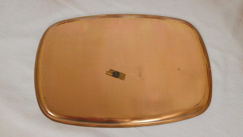 6 Schott Teegläser mit Kupfer Tablett feuerfest Midcentury Set 60er Jahre 4