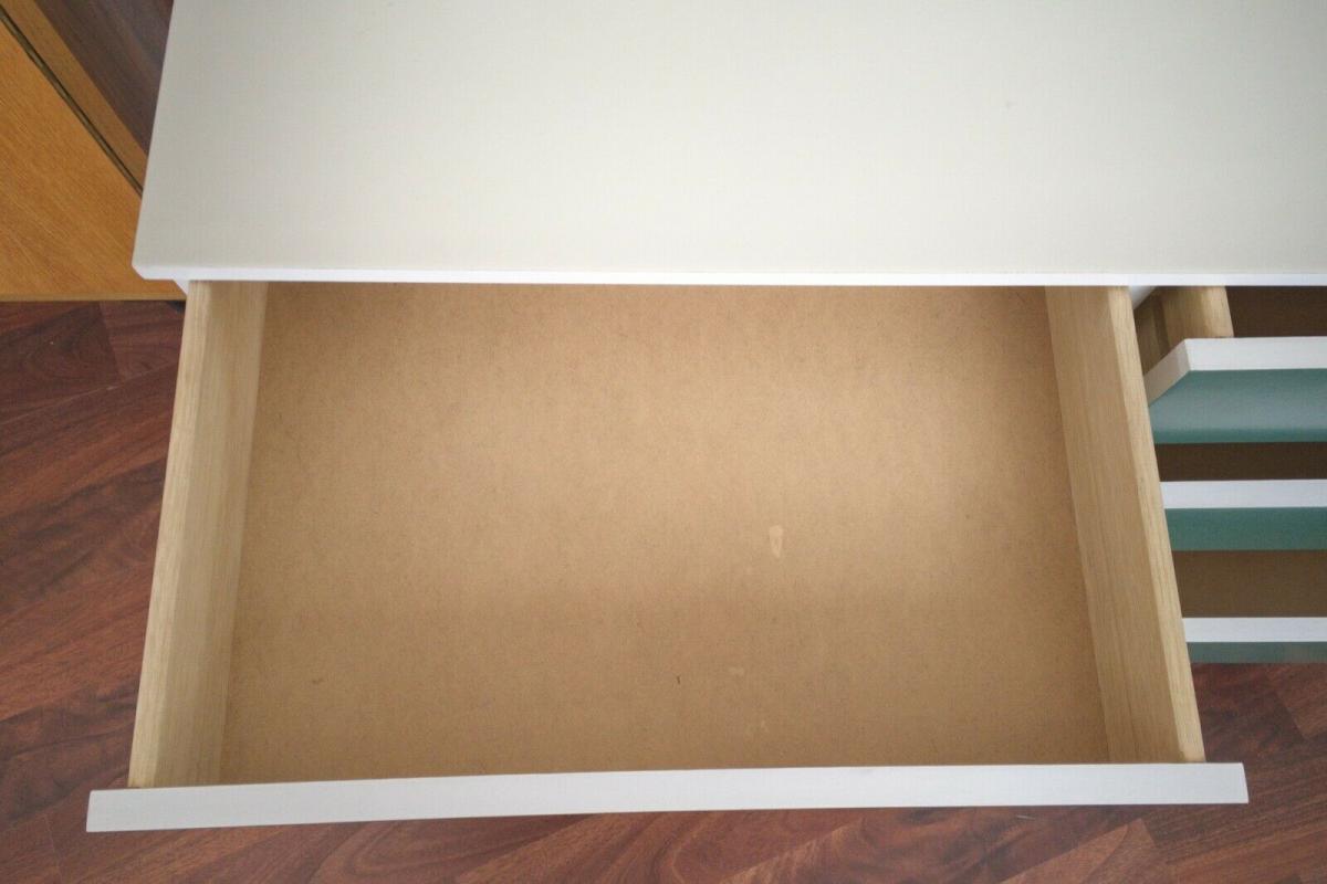 Pop art kommode 6 schubladen weiss grün sideboard lowboard 60er 70er jahre 6