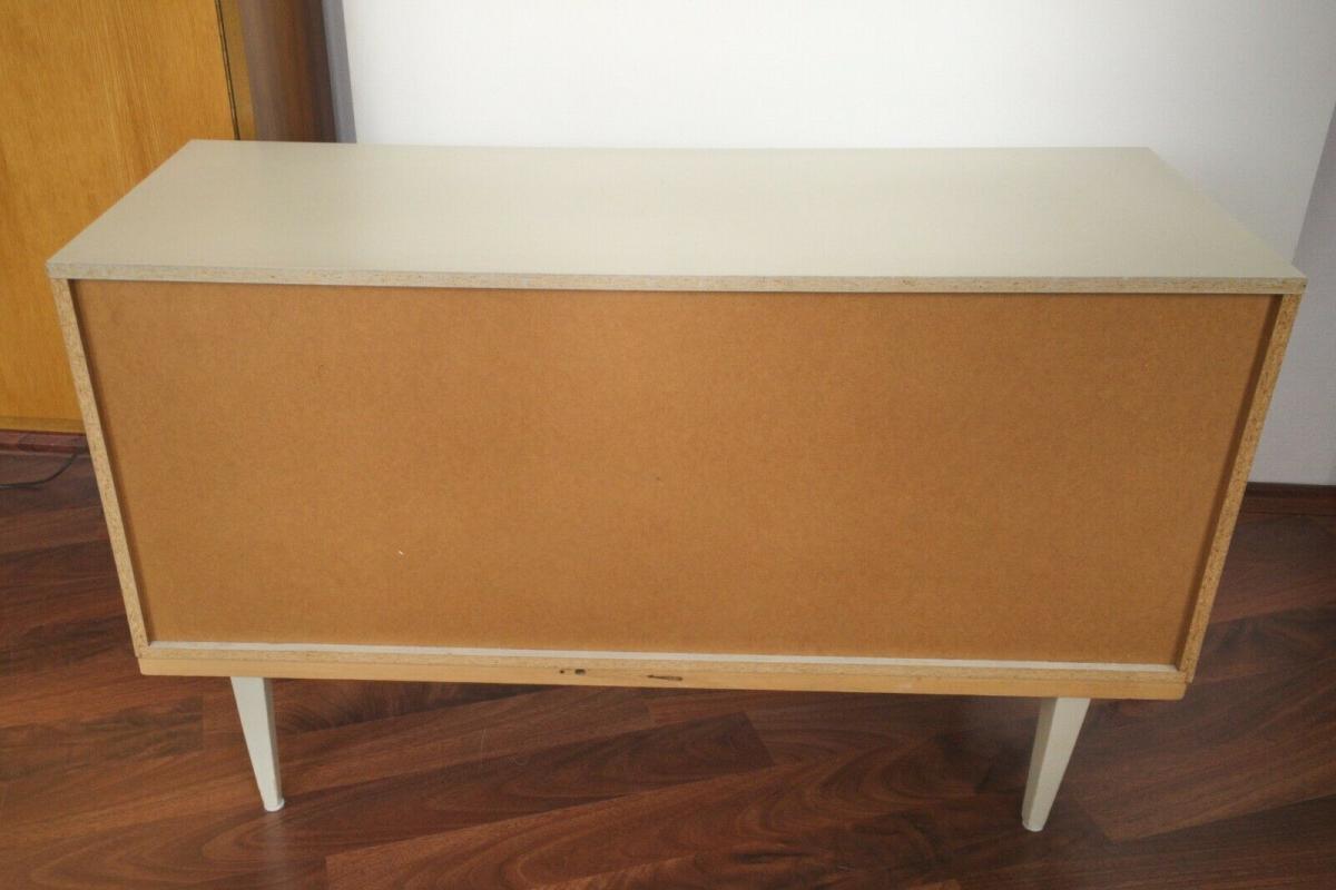 POP ART Kommode 6 Schubladen weiss grün Sideboard LOWBOARD 60er 70er Jahre 9