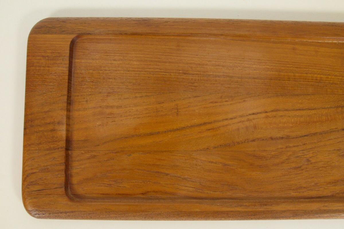 Digsmed denmark teak tablett mit 4 glasschalen dänemark modell 710 60er 1964 6