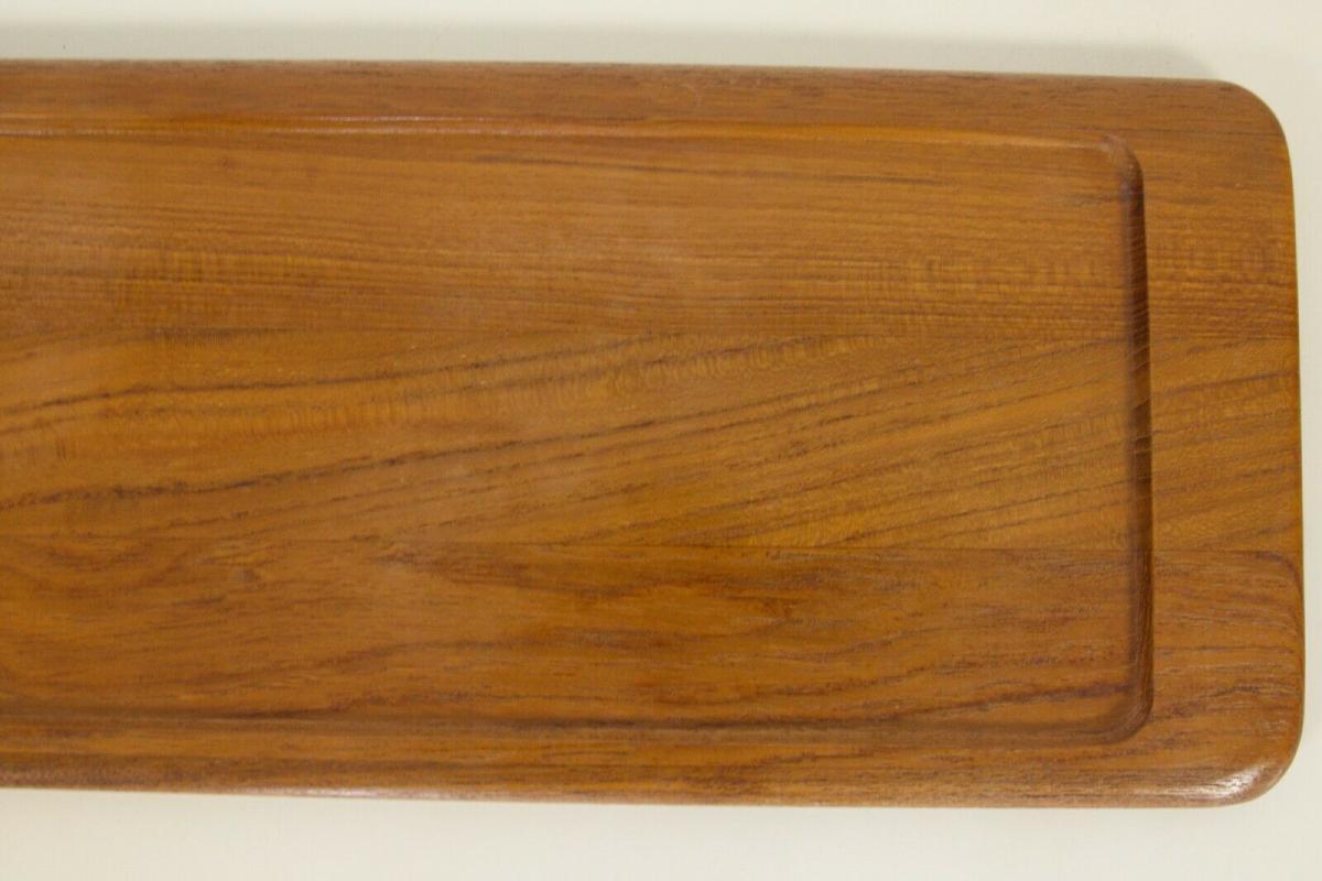 Digsmed denmark teak tablett mit 4 glasschalen dänemark modell 710 60er 1964 7