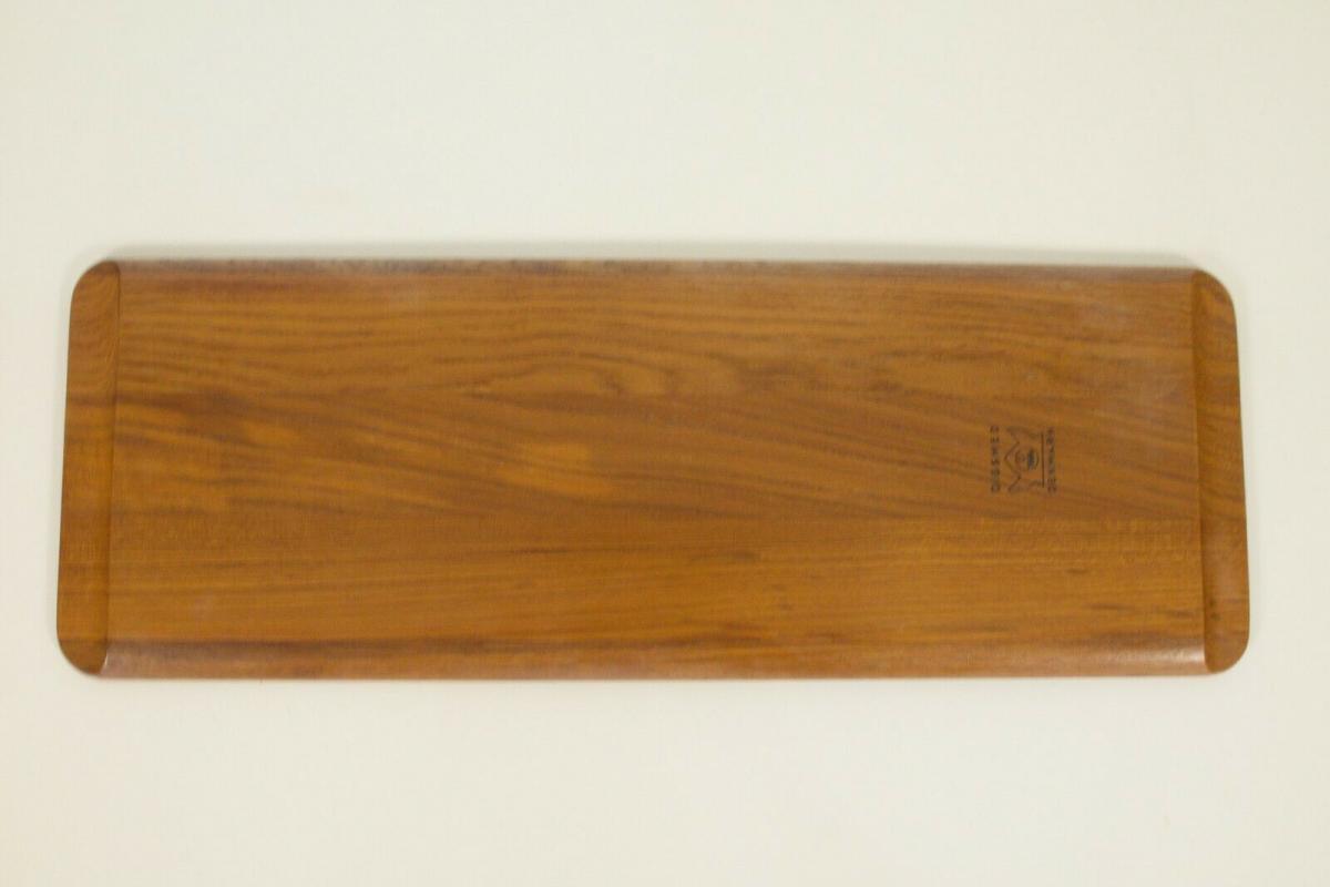 Digsmed denmark teak tablett mit 4 glasschalen dänemark modell 710 60er 1964 8