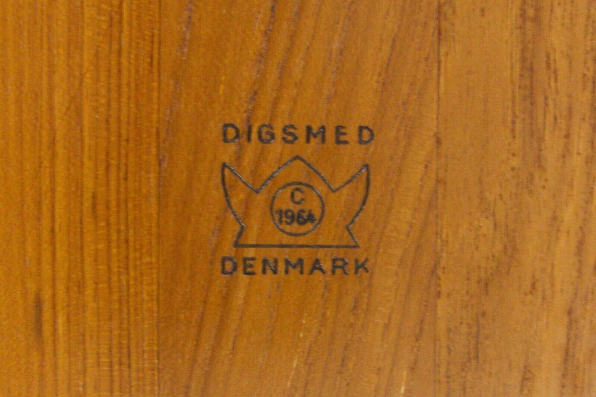 Digsmed denmark teak tablett mit 4 glasschalen dänemark modell 710 60er 1964 9