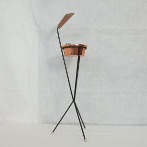 Vintage Standascher Aschenbecher Ash Tray im String Stil Kupfer 50er 60er Jahre