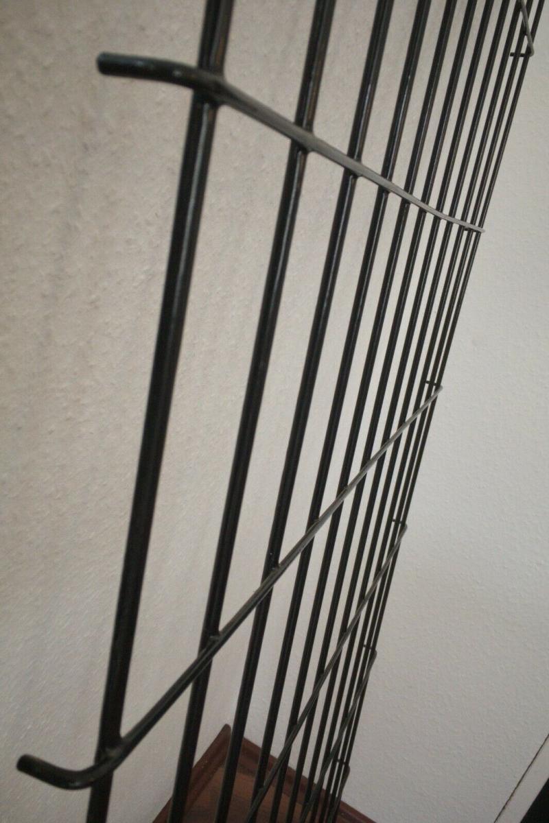 Schöne Garderobe Wandgarderobe im String Stil schwarz Midcentury 60er Jahre 5