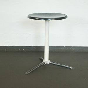 Arzthocker industriehocker industrial stil 50er jahre hocker stool plywood chrom
