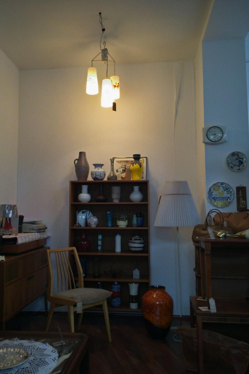 Kinderzimmer lampe handbemalt ? w. disney motive hängelampe 3 gläser 50er  jahre