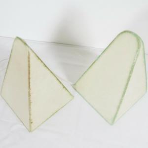 Cocoon Lampe Tischlampe GOLDKANT Castiglioni Stil Vintage 60er Jahre Pyramide
