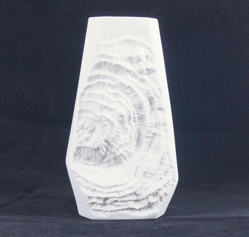 60er Bisquitvase Ammoniten Fossilien ALBOTH & KAISER AK Op Art Bisquit  276/0 0
