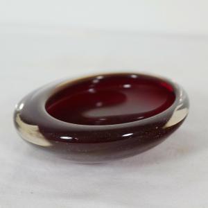 Kleine Midcentury GLAS Schale Glasschale Rot SOMMERSO STIL Skandinavien 60er