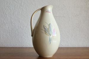 Rhenania manufaktur feine porzellanvase porzellan kunst pastell farbe 50er jahre
