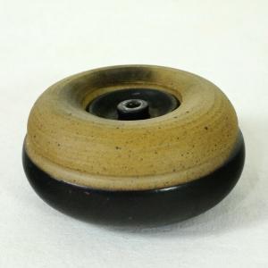 Midcentury 60er Jahre OELLICHT Petroleumlicht Keramiklicht STRETZ Braun beige