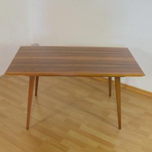 Vintage couchtisch coffee table tisch echtholz furnier mit intarsien 50er jahre
