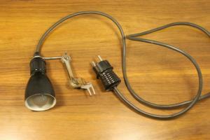 Kleine werkstattlampe wandlampe industrie design industrial lamp 50er jahre
