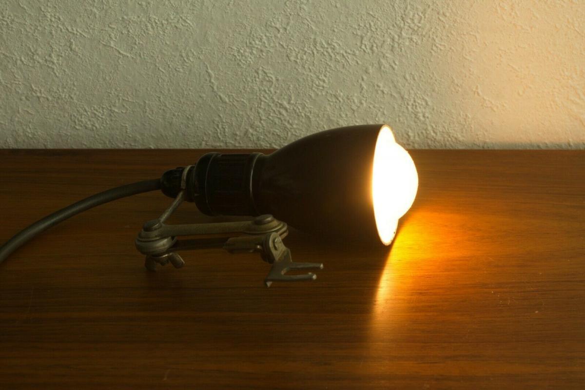 Werkstattlampe industrielampe industriedesign industrial lamp 50er jahre vintage 3