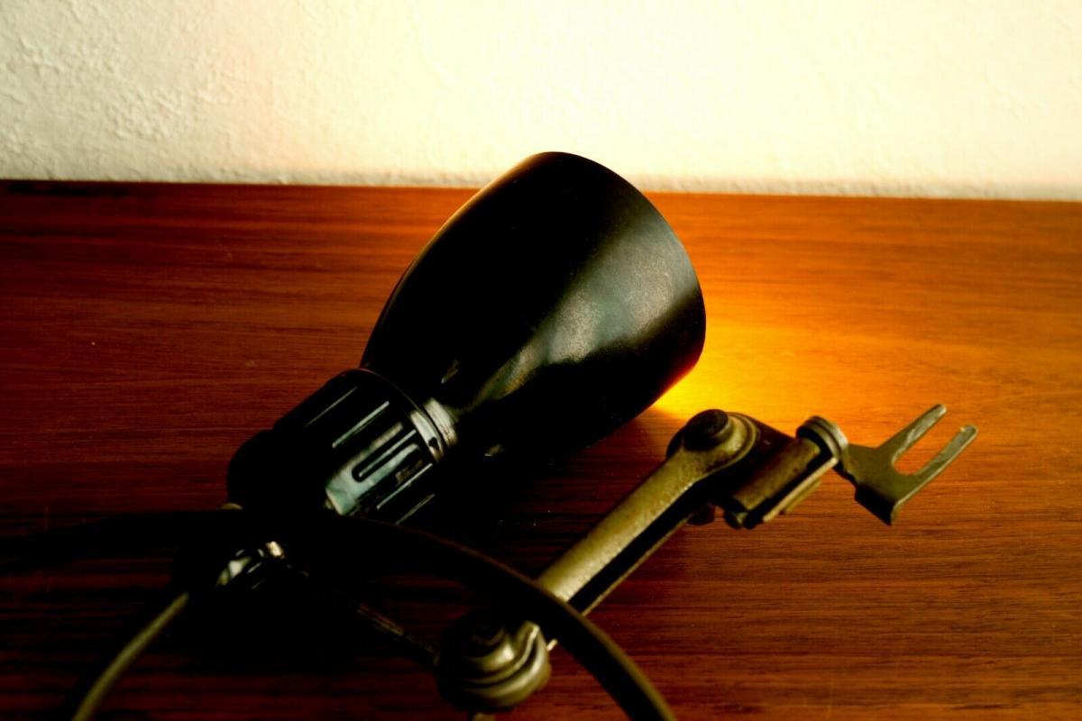 Werkstattlampe industrielampe industriedesign industrial lamp 50er jahre vintage 4