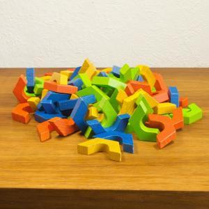 Holz bausteine 4 farben für coaching mediation kreativität beruhigung aus 60er