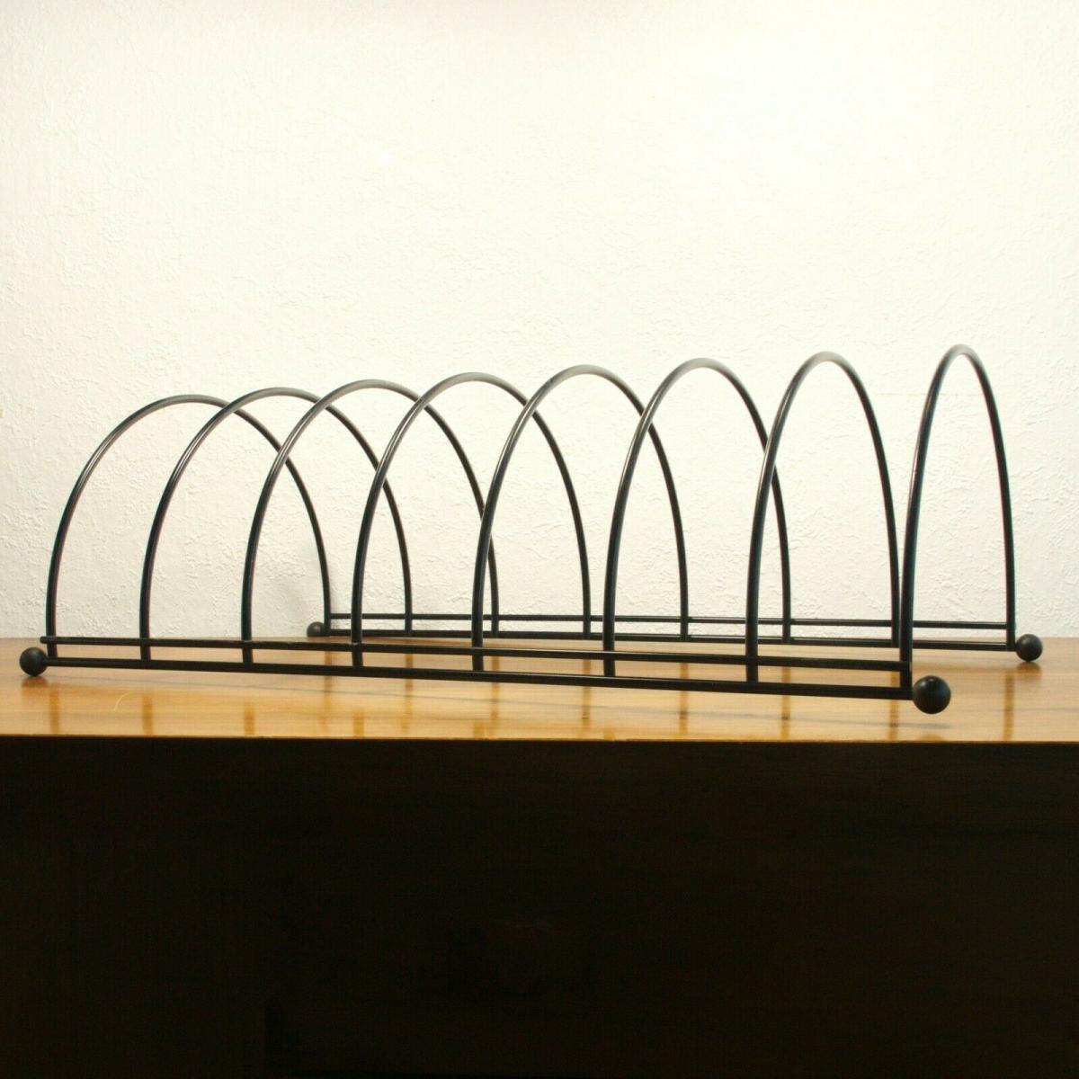 Lp ständer vinyl aufbewahrung im string stil schwarz schallplattenständer 60er 0
