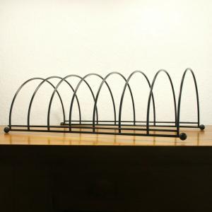 Lp ständer vinyl aufbewahrung im string stil schwarz schallplattenständer 60er