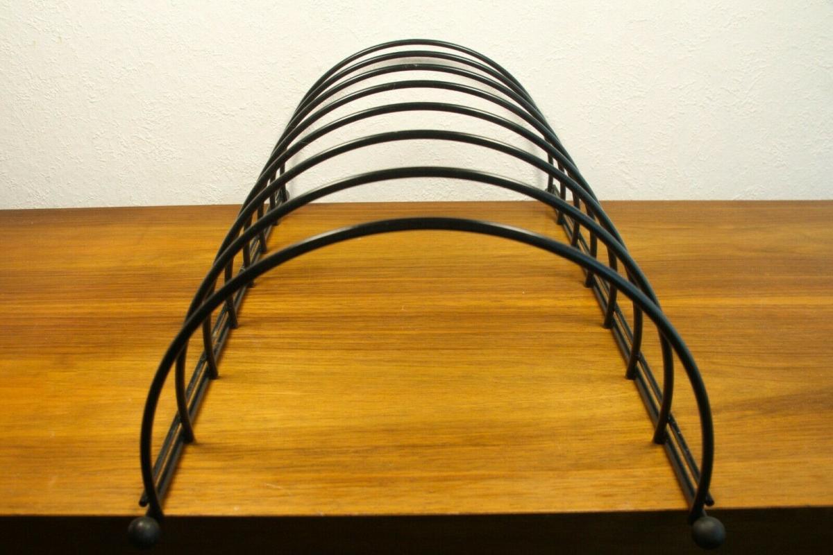 Lp ständer vinyl aufbewahrung im string stil schwarz schallplattenständer 60er 3
