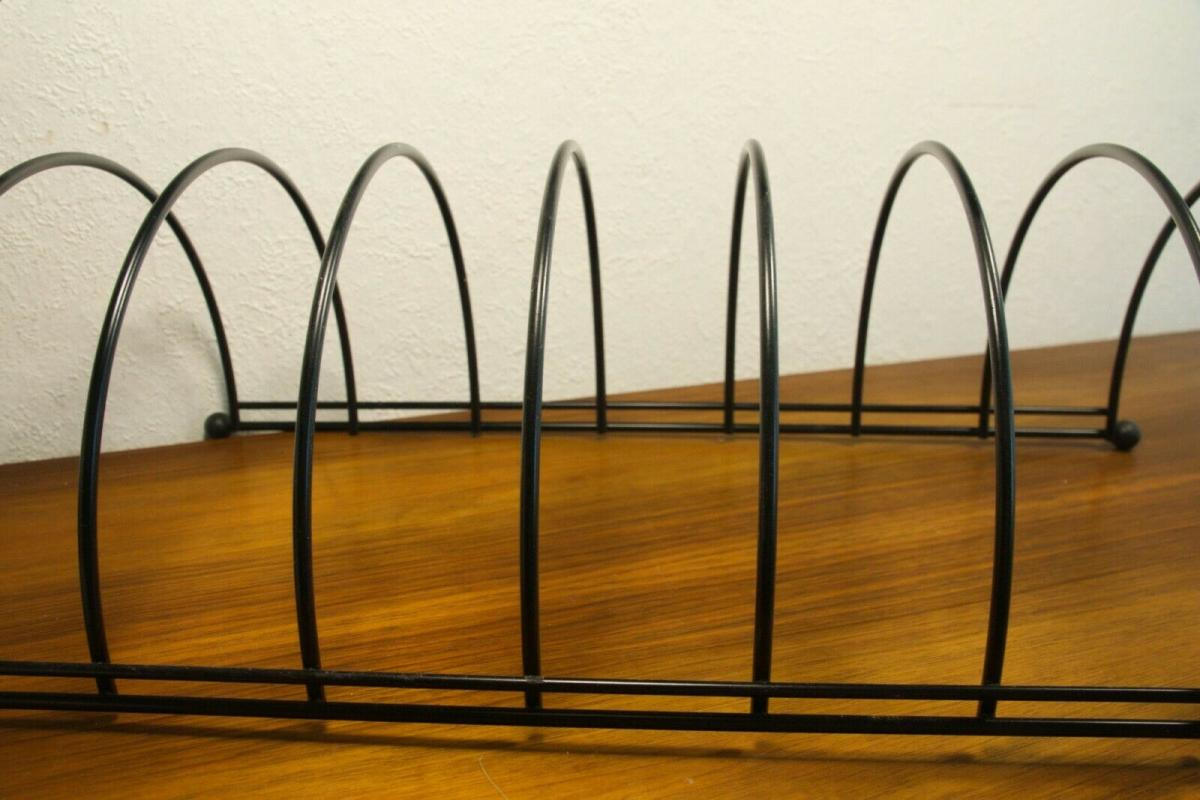 Lp ständer vinyl aufbewahrung im string stil schwarz schallplattenständer 60er 5