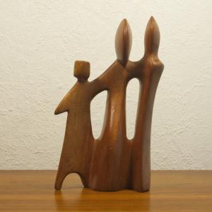 Teak figurengruppe teakholz skulptur danish design l desire dominica 60er 70er