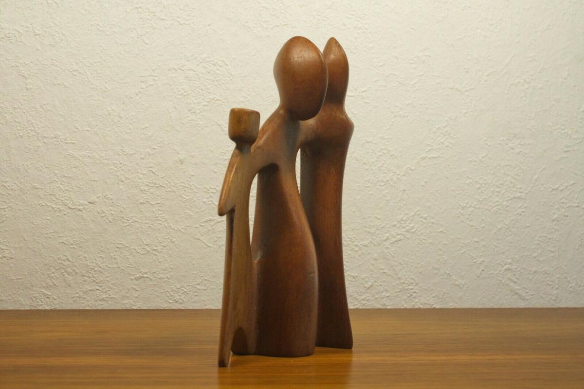 Teak figurengruppe teakholz skulptur danish design l desire dominica 60er 70er 1