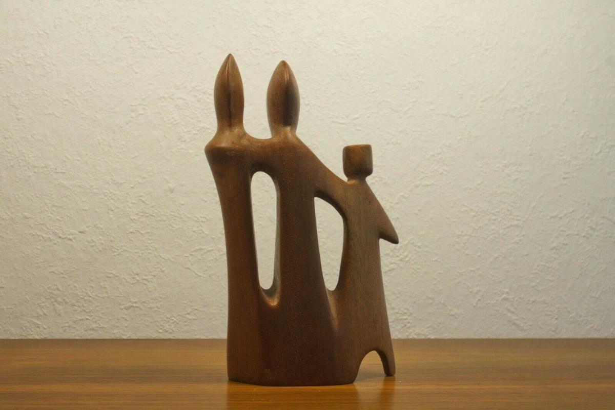 Teak figurengruppe teakholz skulptur danish design l desire dominica 60er 70er 3