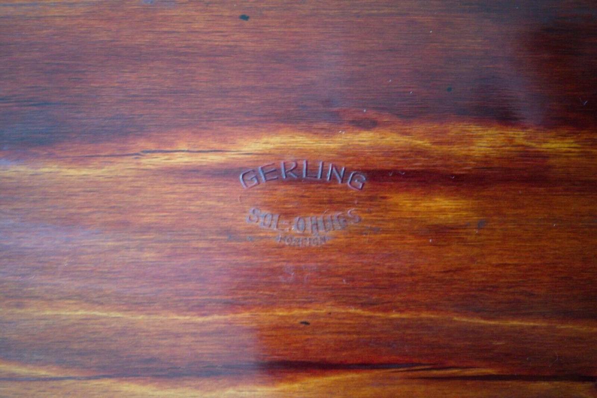 Gerinol palisander tablett von gerling solingen 60er jahre midcentury servieren 4