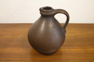Midcentury keramikvase vase braune keramik 203/15 handarbeit JLK danish 60er