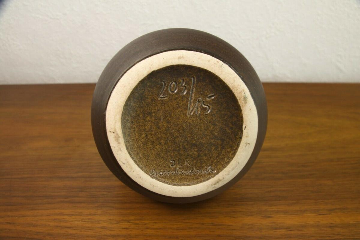 Midcentury keramikvase vase braune keramik 203/15 handarbeit JLK danish 60er 3