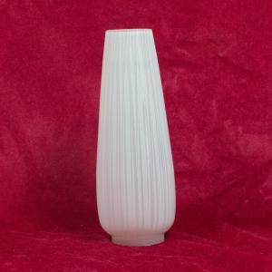 Ersatz lampenschirm glasschirm streifendekor konisch glastüte 60er jahre weiss