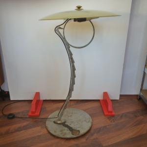 Einzelstück bodenlampe aus stahl unbek künstler tellerlampe 50er jahre stil