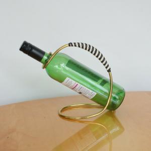 Vintage ständer für weinflasche flaschenhalter ausgiesser vermessingt 50er jahre