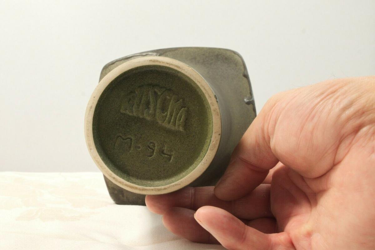 70er jahre ruscha art vase M. 94 echte handarbeit tischvase keramikvase selten 4