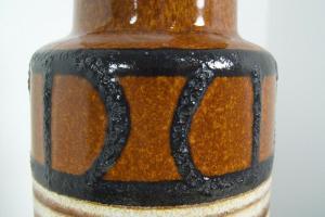 Große vase bodenvase scheurich 517-30 fat lava h 30,5 cm braun 50er 60er jahre