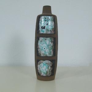 Design keramikvase im dänischen stil handbemalt strehla keramik vase 1111 60er
