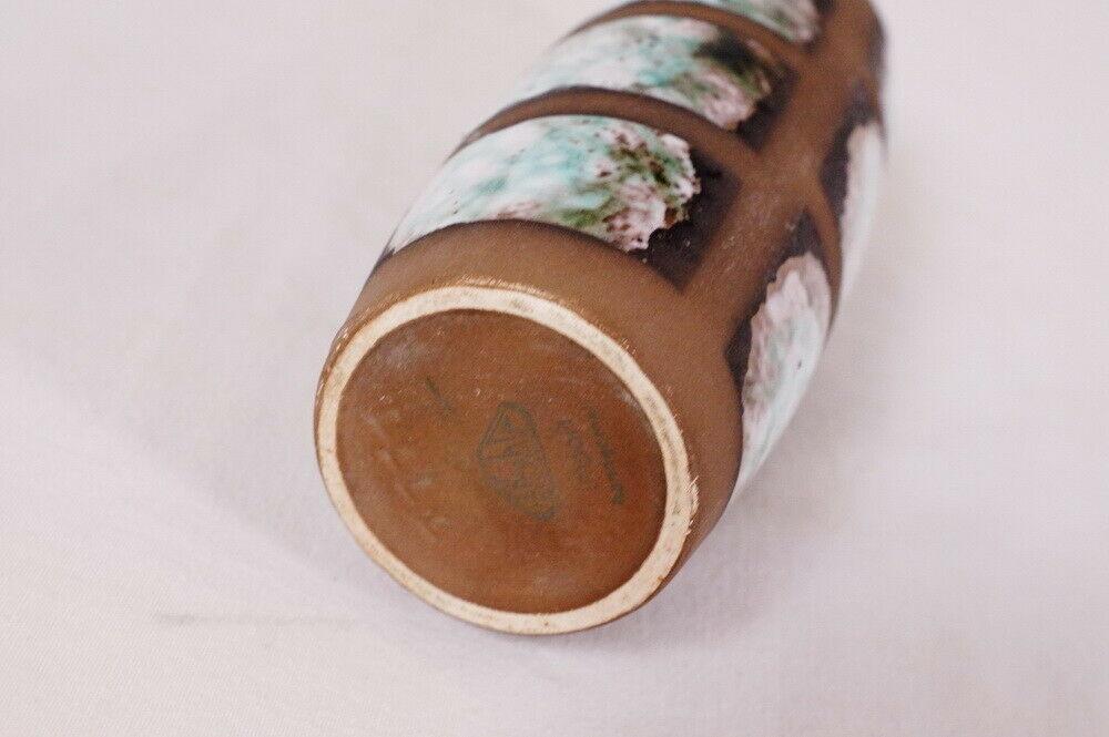 Design keramikvase im dänischen stil handbemalt strehla keramik vase 1111 60er 3