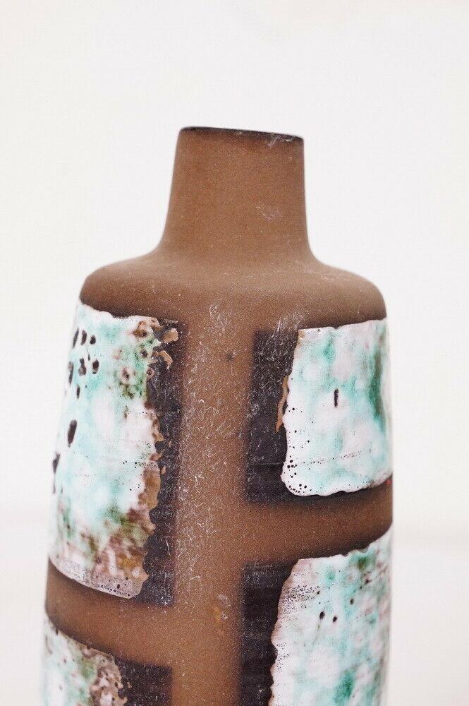Design keramikvase im dänischen stil handbemalt strehla keramik vase 1111 60er 5