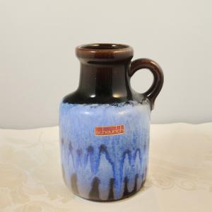 Scheurich vase keramikvase krugvase 414-16 germany blauer verlauf 60er 70er