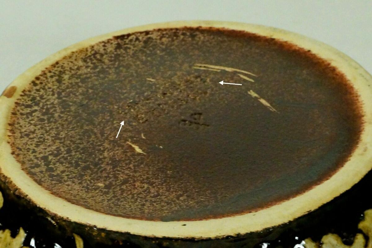 Dümler & breiden keramikschale schale zum hängen 1112 23 fat lava verlauf 60er 3