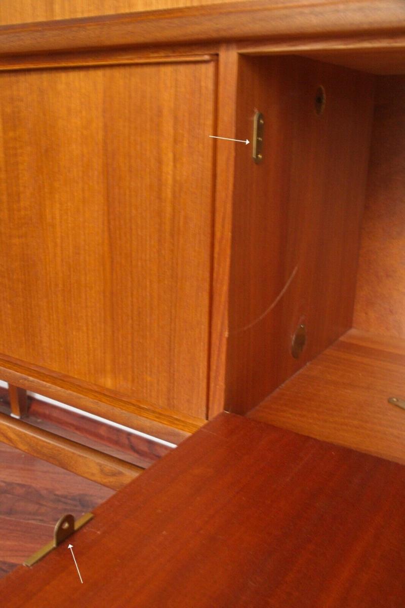 Mid century teak highboard von bartels werke 230 cm danish modern 60er jahre 3
