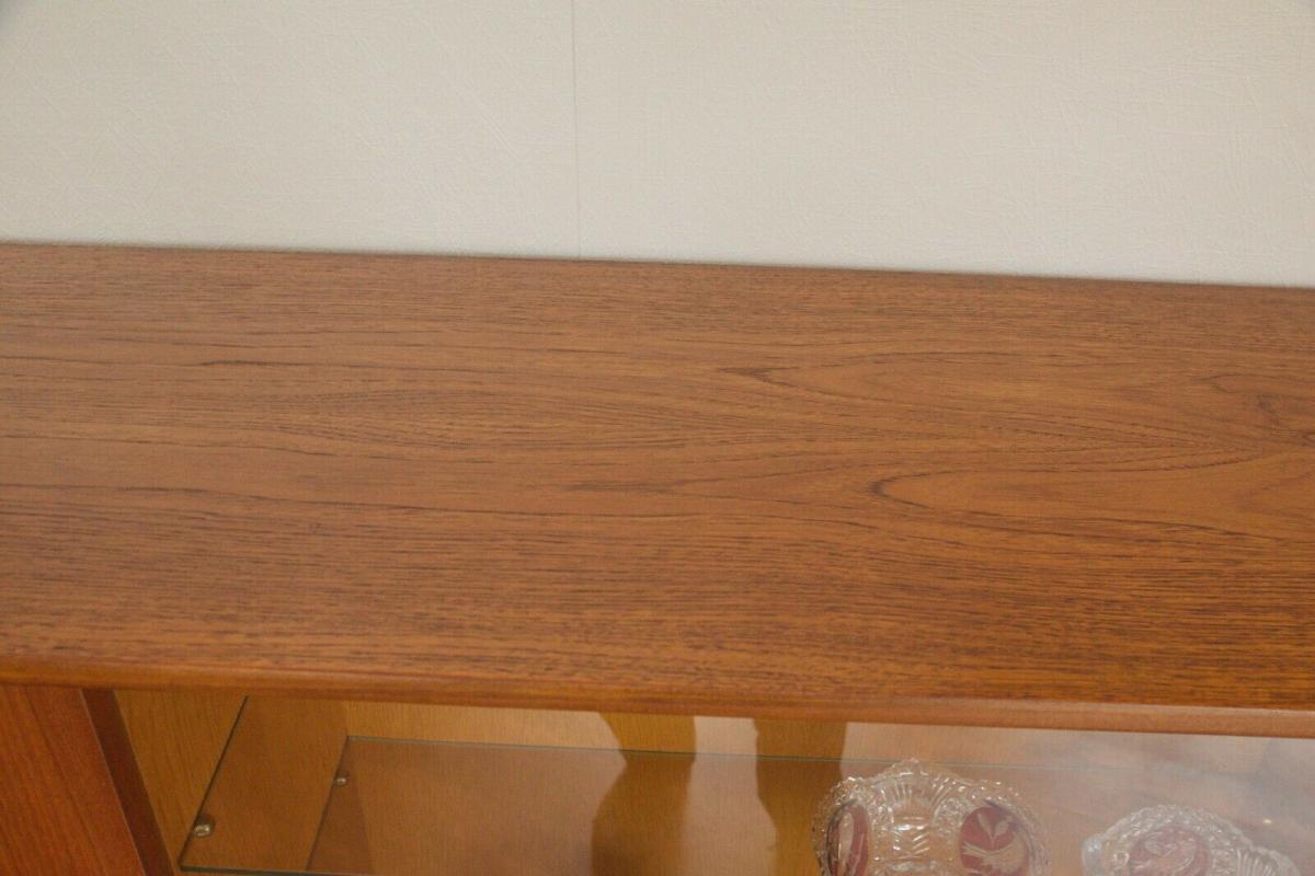 Mid century teak highboard von bartels werke 230 cm danish modern 60er jahre 5