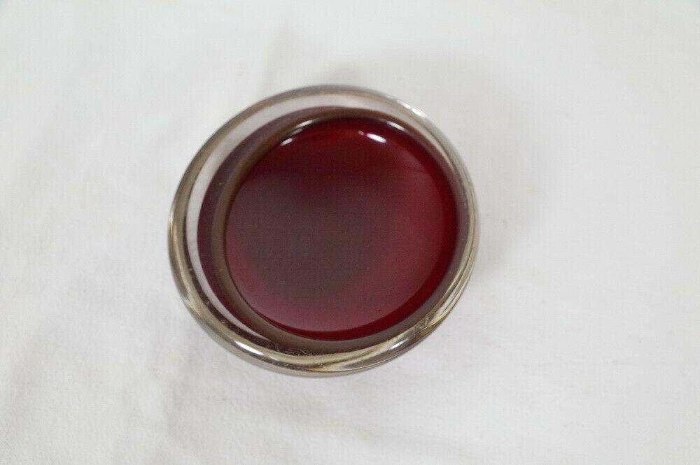 Kleine midcentury glas schale glasschale rot sommerso stil skandinavien 60er 1