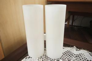 Midcentury lampe wandlampe leuchte von doria wall lamp glassäulen h 28 cm 60er