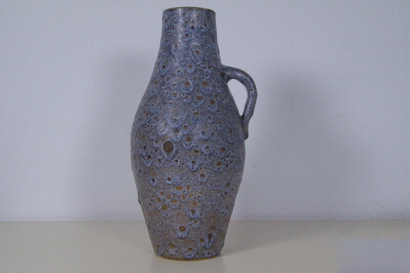 Kunsttöpferei unterfang ktu fat lava vase krugvase krug schlangenhaut 60er jahre 0