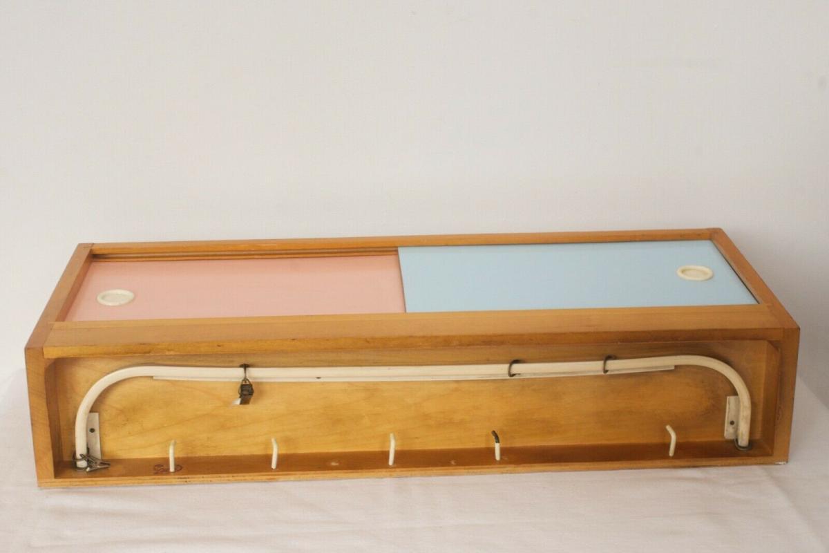 Pastell farben vintage holz wandschrank resopal für vorhang haken 50er jahre 4