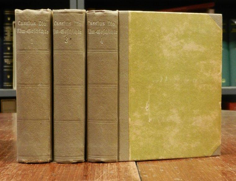 Cassius Dio: Römische Geschichte, übersetzt vo nleonhard Tafel. Erstes bis viertes und neuntes bis sechszehntes Bändchen (von 16) in 3 Büchern.