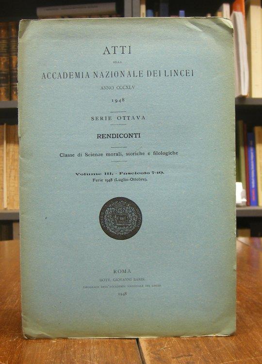 Furlani, Giuseppe: Acc. Muballit Miti = Il Salvatore del Moribondo. Nota. Estratto dai Rendiconti della Classe di Scienze morali, storiche e filologiche